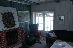 Bilde av stue i utleiehytte